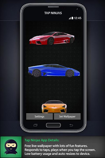 Sports Car 3D Spin LWP