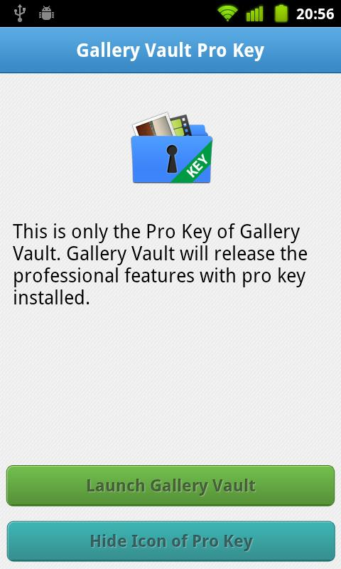 Gallery Vault Pro Key - screenshot