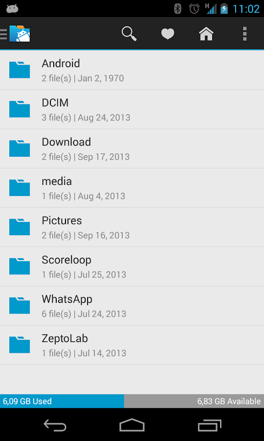 inKa File Manager - screenshot