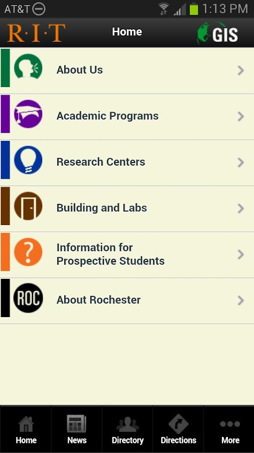 RIT GIS Mobile - screenshot