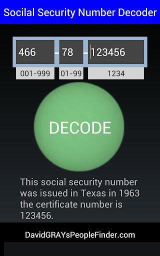 玩免費生活APP|下載Social Security # Decoder app不用錢|硬是要APP