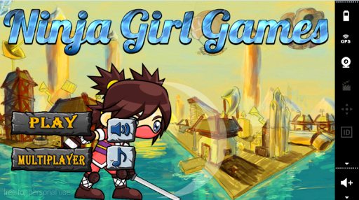 Jumping ninja games GIRL NINJA