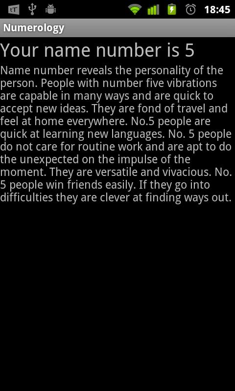 Numerology - screenshot