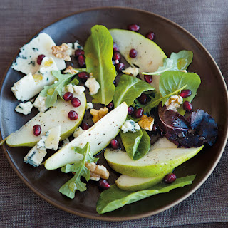 Winter Pear Salad with Blue Cheese, Walnuts and Pomegranate.