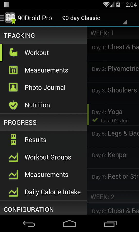 Fit XT Pro (90Droid)- screenshot
