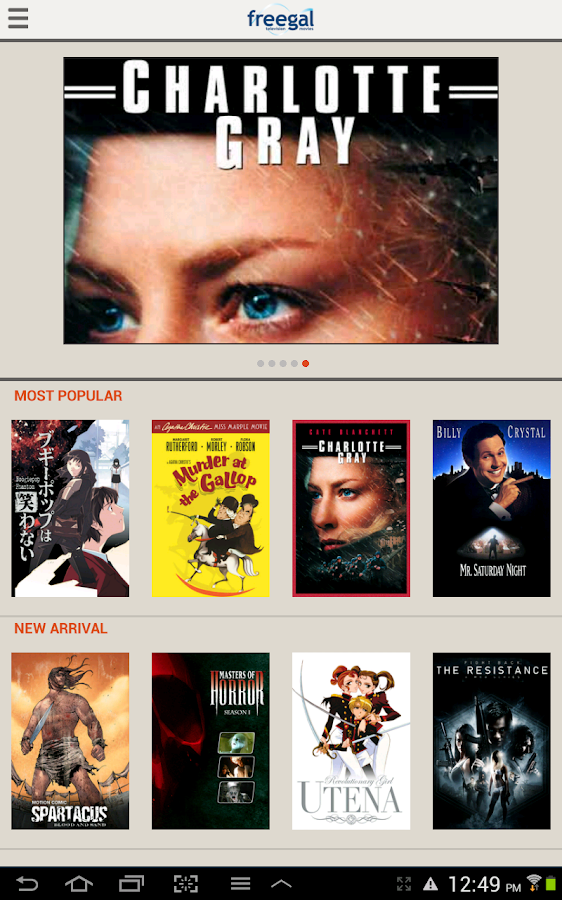 Freegal Movies and Television - screenshot
