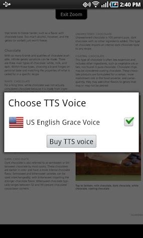 Blio US English Grace Voice Screenshot