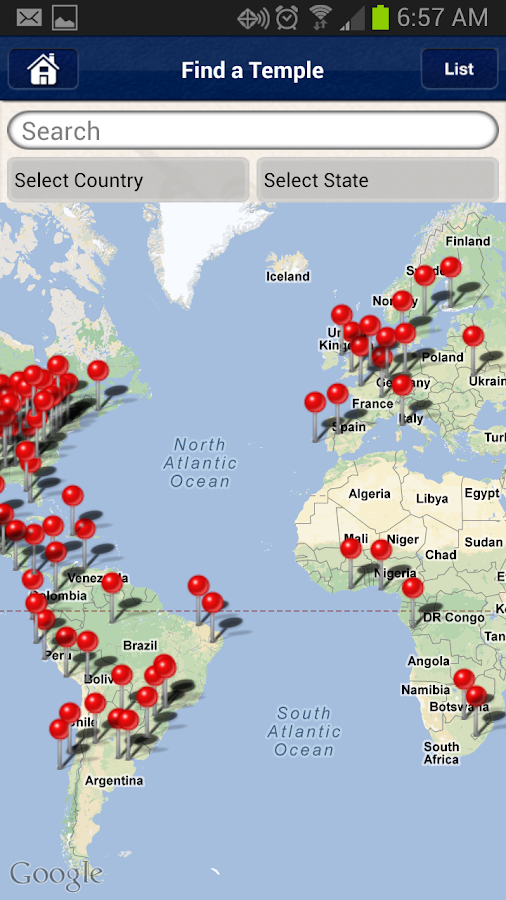 LDS Temple Passport Android Apps On Google Play - Map of all lds temples in us