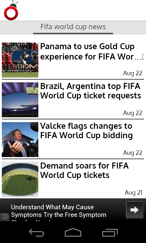 FIFA World Cup News - screenshot