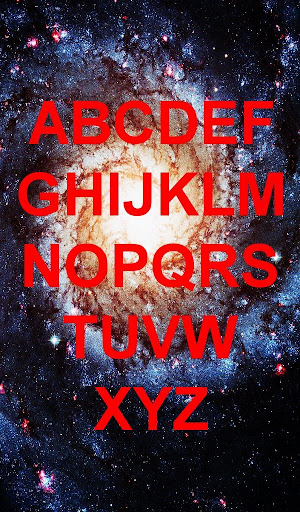 Learning Kids ABCs in Space
