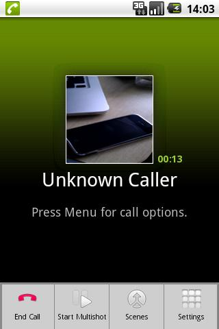 CallCam Lite- screenshot