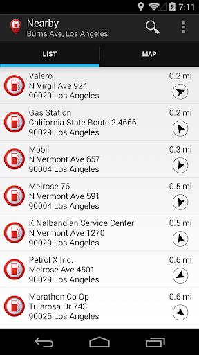 Gas Station Fuel Finder