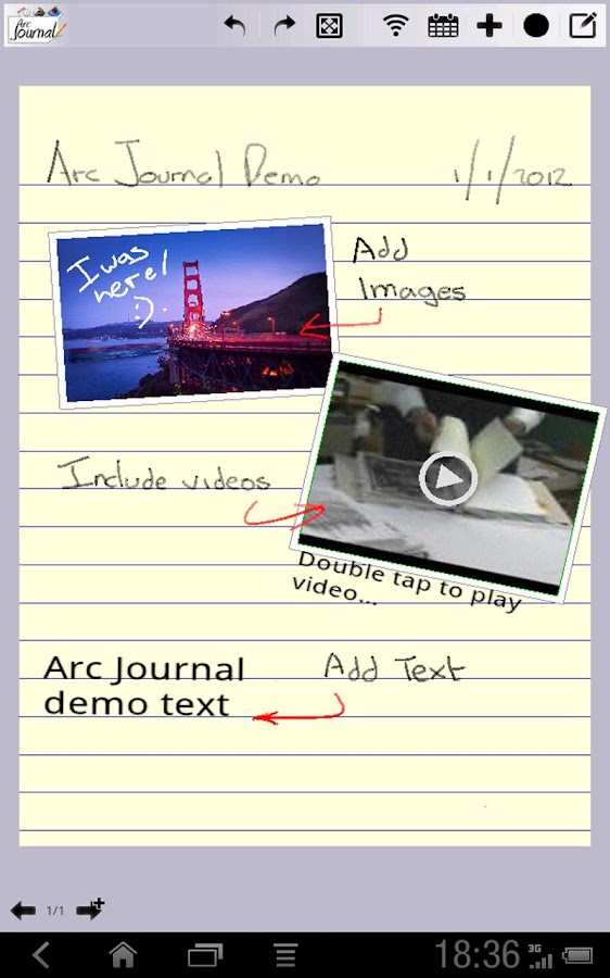 Arc Journal Lite - screenshot