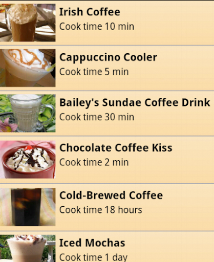 Free Coffee Receipes