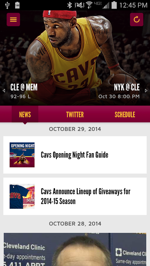 Cleveland Cavaliers - screenshot
