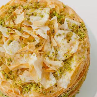 Pistachio Baklava Cake.