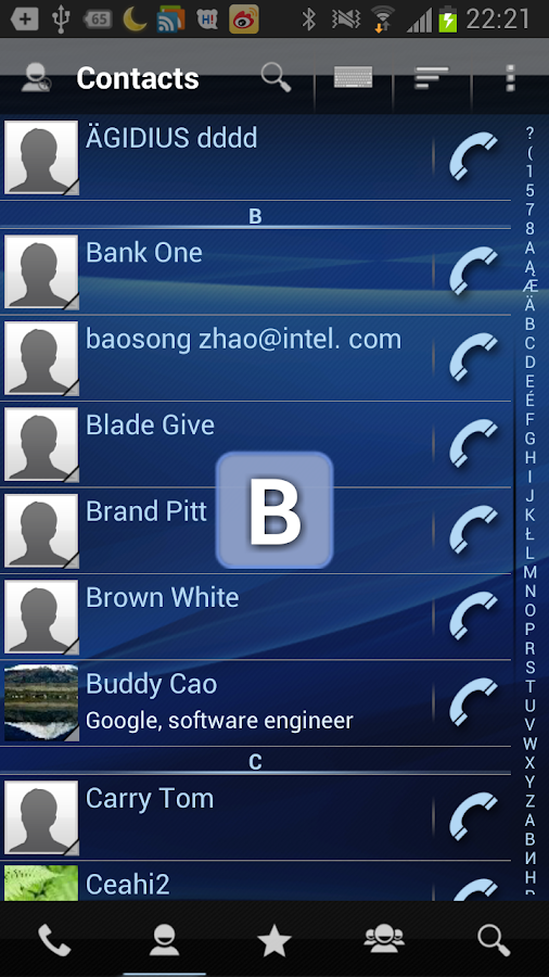 RocketDial Dialer & Contacts - screenshot