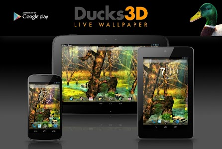 Ducks 3D Live Wallpaper FREE screenshot 6