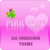 GO Launcher ex Theme Pink Love