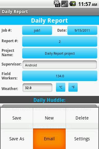 Construction Daily Report Log - screenshot