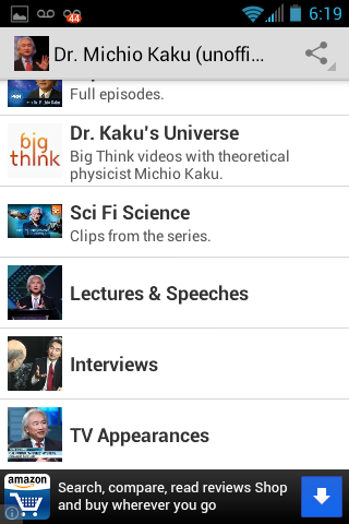 Dr. Michio Kaku Fan App- screenshot