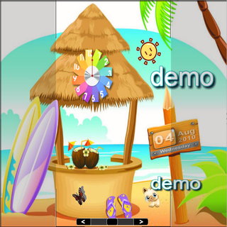 【免費個人化App】Cartoon Beach lwp demo-APP點子