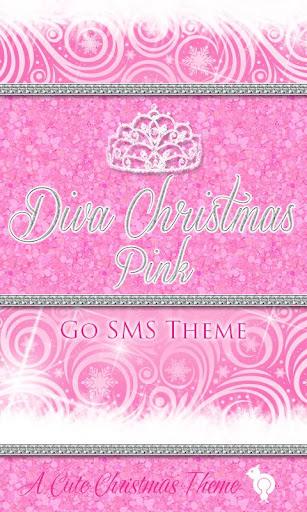 Diva Christmas Pink GO SMS
