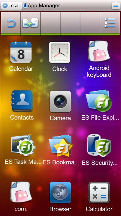 ES File Explorer (1.5 Cupcake)- screenshot