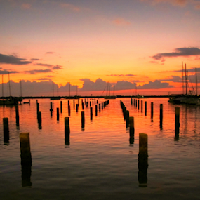 Harbor of Hope by Ad Blessings - Landscapes Waterscapes