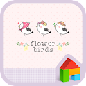flower birds dodol theme icon