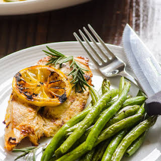 Grilled Lemon Rosemary Chicken with Green Beans.