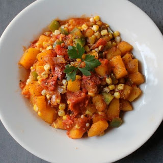 Mexican Butternut Squash and Corn Saute.