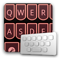LaserRed keyboard skin logo