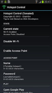 Hotspot Control - screenshot thumbnail