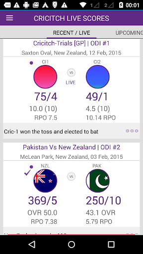Live cricket scores cricitch  screenshots 2