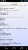 Screenshot of EPA 608 Practice (ads)