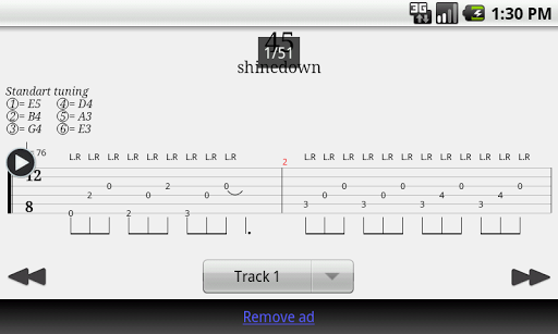 Guitar Tab Player