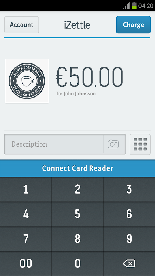 iZettle - screenshot
