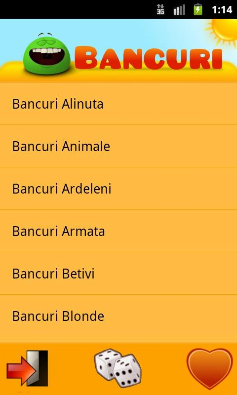 Bancuri- screenshot