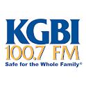 100.7 KGBI logo