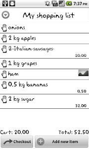 My Shopping List screenshot 0