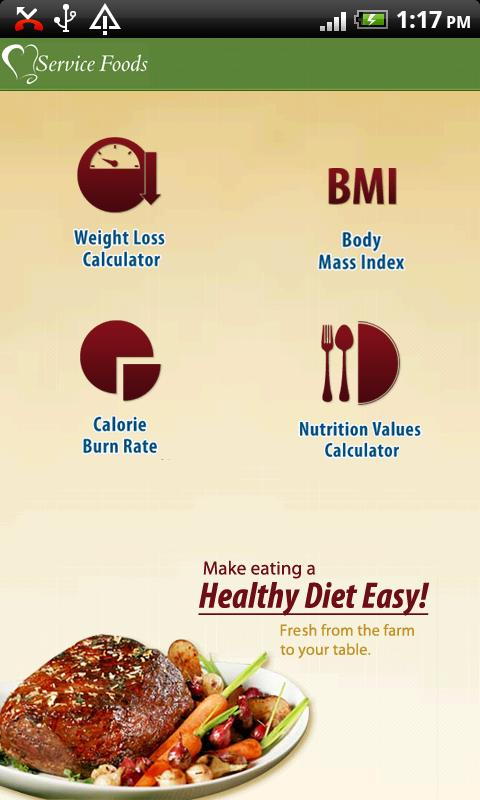 Calorie & Nutrition Manager - screenshot