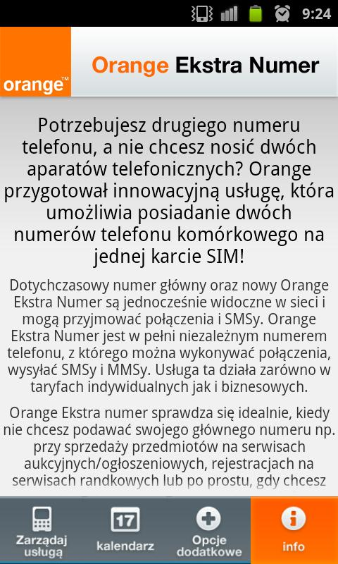 Orange Ekstra Numer – zrzut ekranu