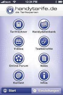 handytarife.de Tarifoptimierer - screenshot thumbnail