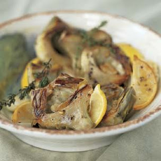 Artichokes Braised in an Electric Pressure Cooker