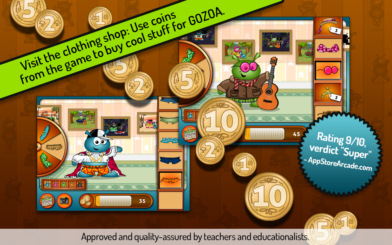 GOZOA - Play & learn math+- screenshot