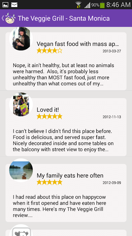 HappyCow Healthy Eating Guide - screenshot