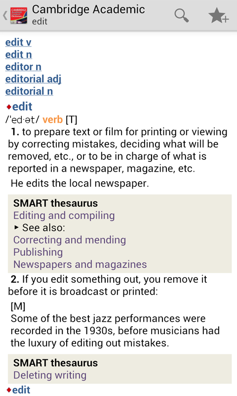 Cambridge Academic Content TR- screenshot