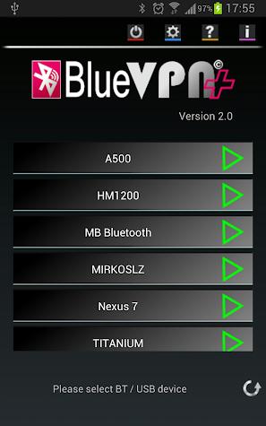 BlueVPN+ Screenshot