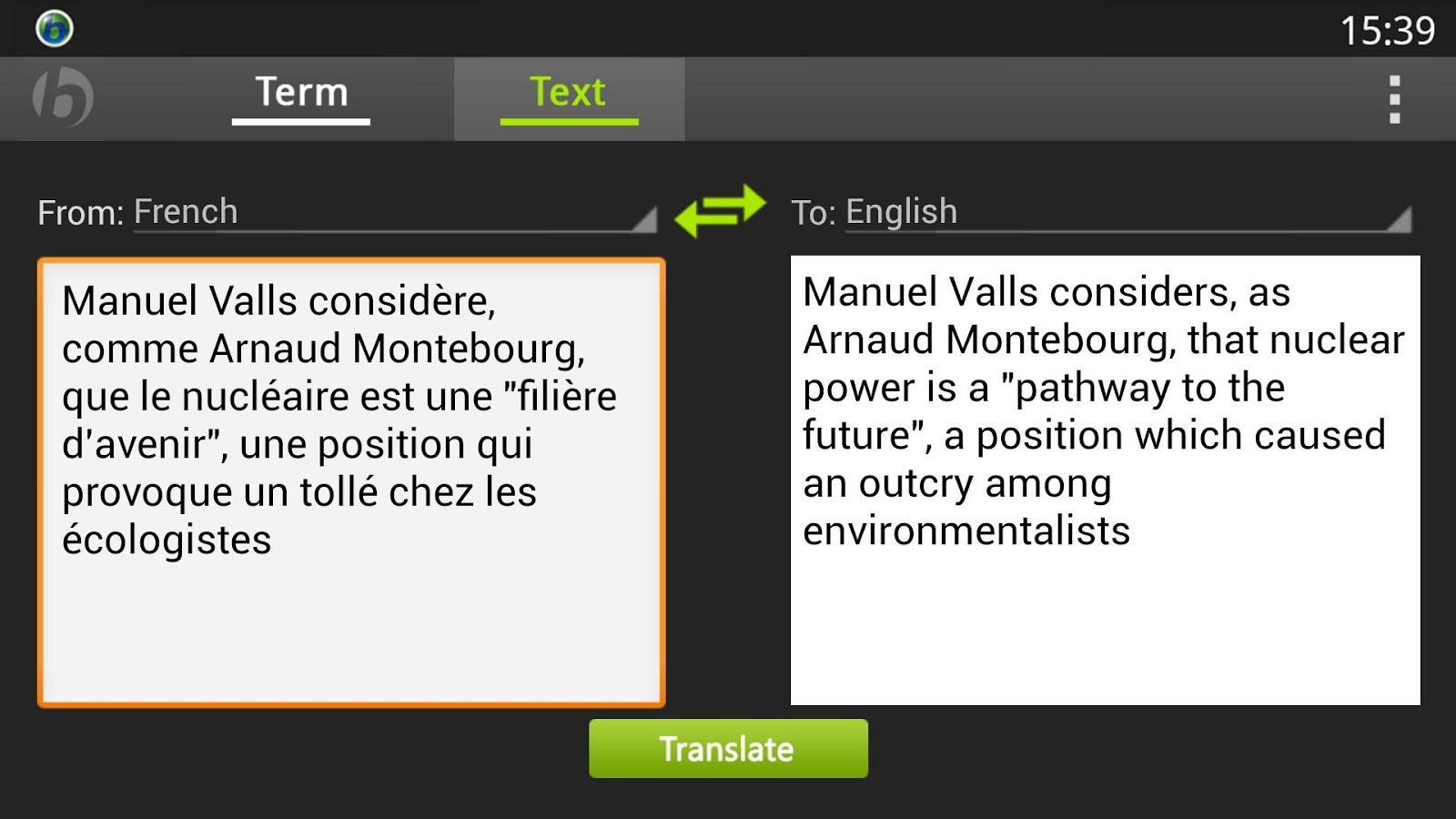 Babylon Translator - screenshot